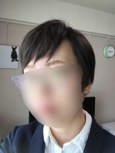 ブロー後の髪型