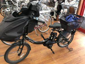 前乗せの電動自転車