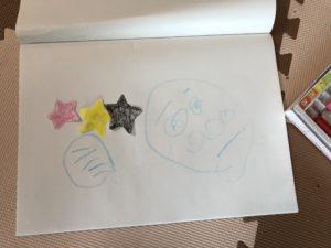 子供が書いたアンパンマンの絵