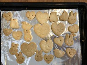 子供でも作れるクッキー焼いた後