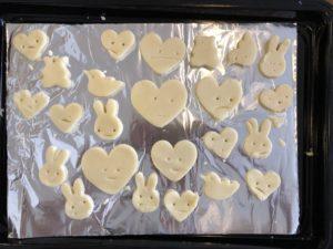 子供でも作れるクッキーの焼く前