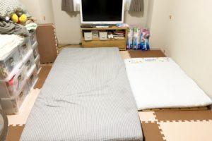 寝室に子供と一緒に寝るときのレイアウト