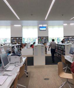 都立多摩図書館の勉強・自習スペース